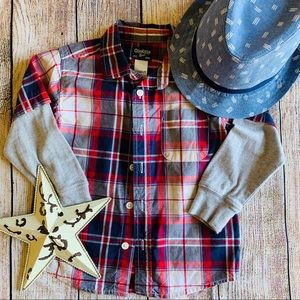 Long sleeve button down size 2T